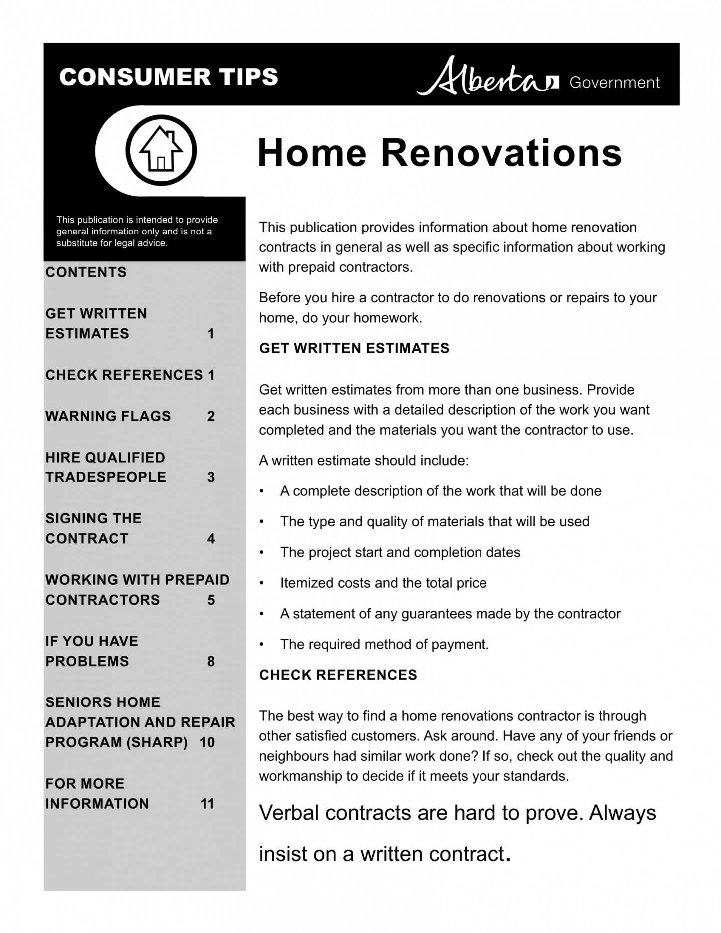 Renovation Contract Template Word