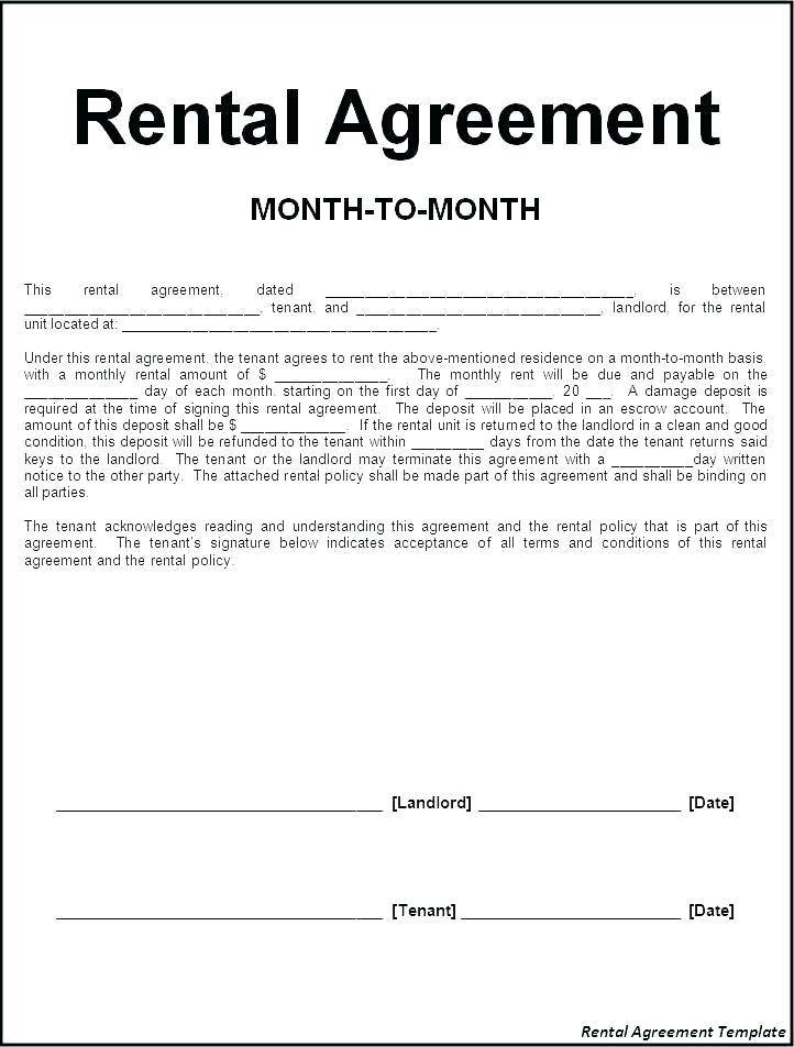 Rent A Room Contract Template Ireland
