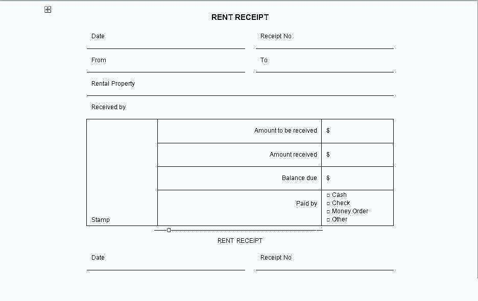 Rent Receipt Format In Hindi