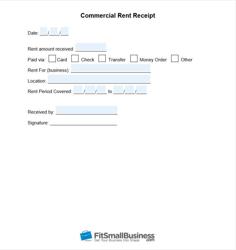 Rent Receipt Printable Free