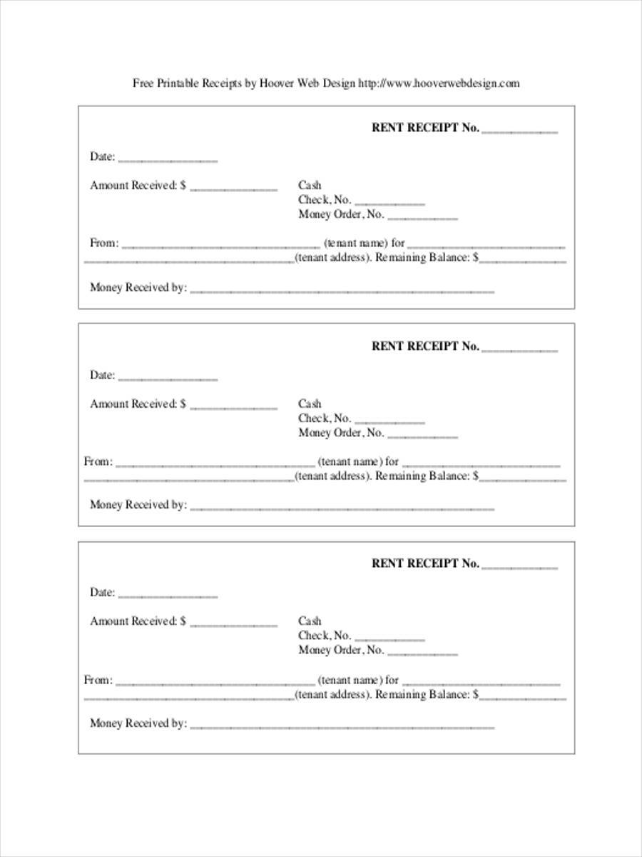 Rent Receipts Format Download