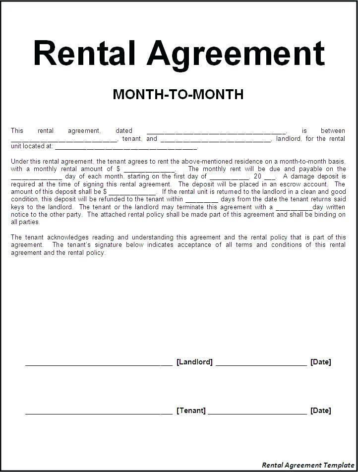Rent Room Tenancy Agreement Template