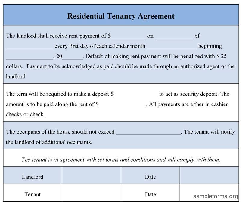 Rent Tenancy Agreement Form