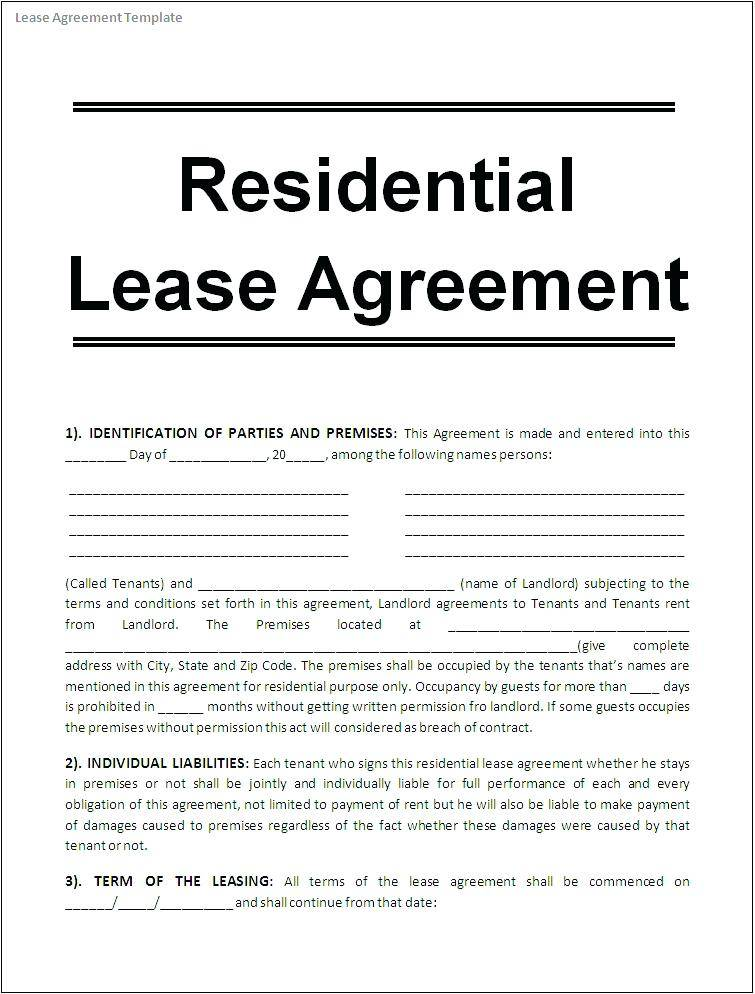 Rental Agreement Template Cyprus