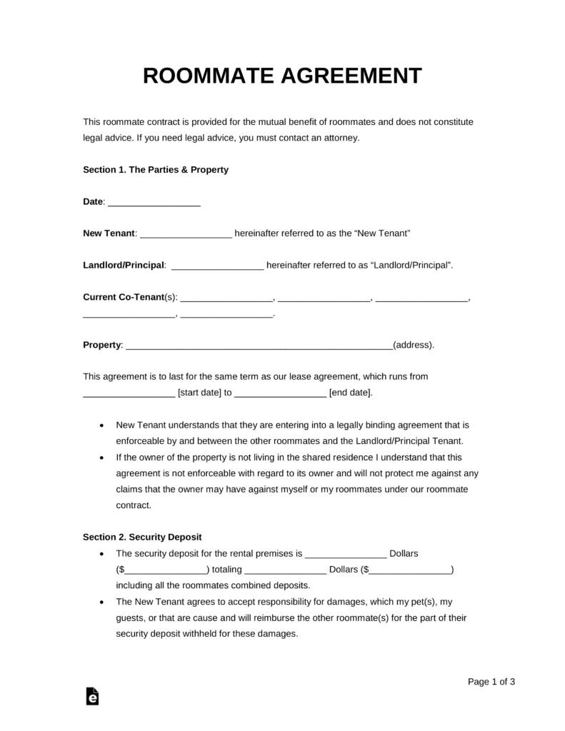 Rental Agreement Template Pdf