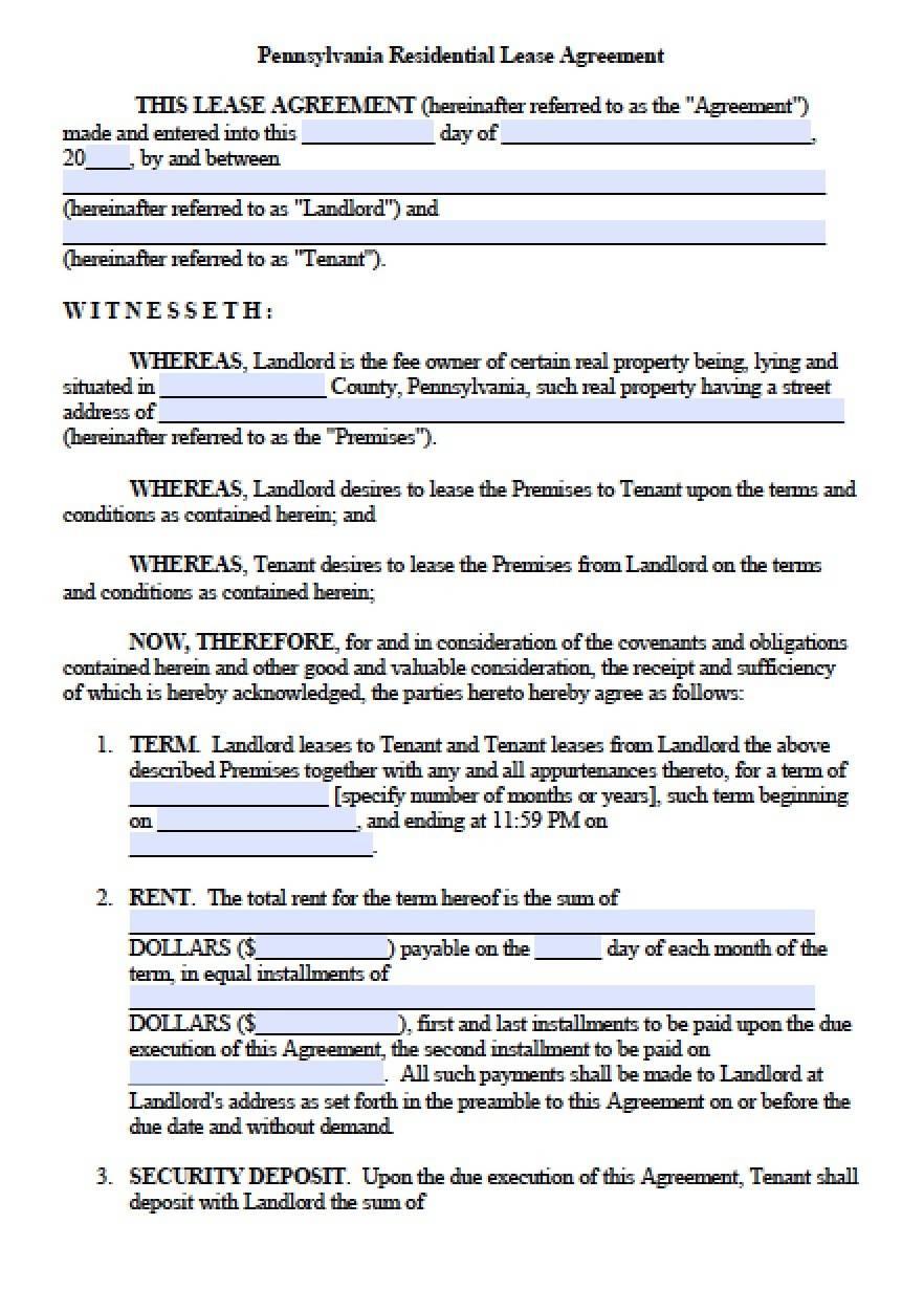 Rental Agreement Template Word Ontario