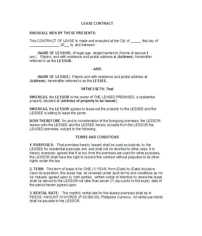 Rental Application Form Template Ontario