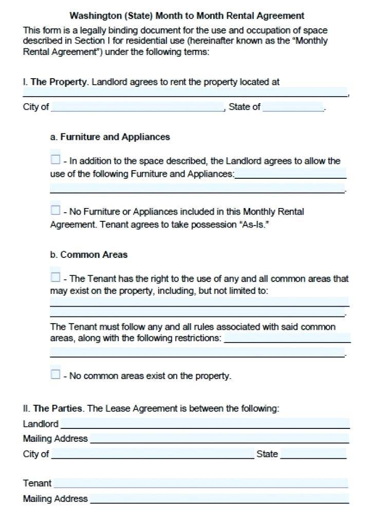 Rental Application Form Template Wa