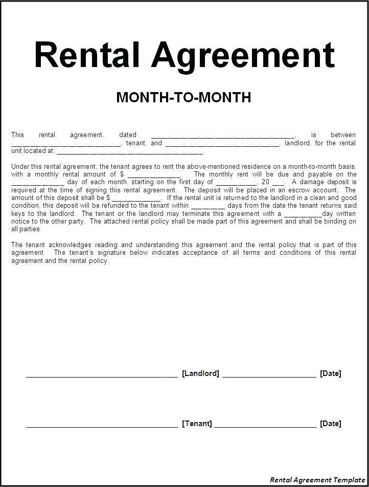 Rental Contract Template Word