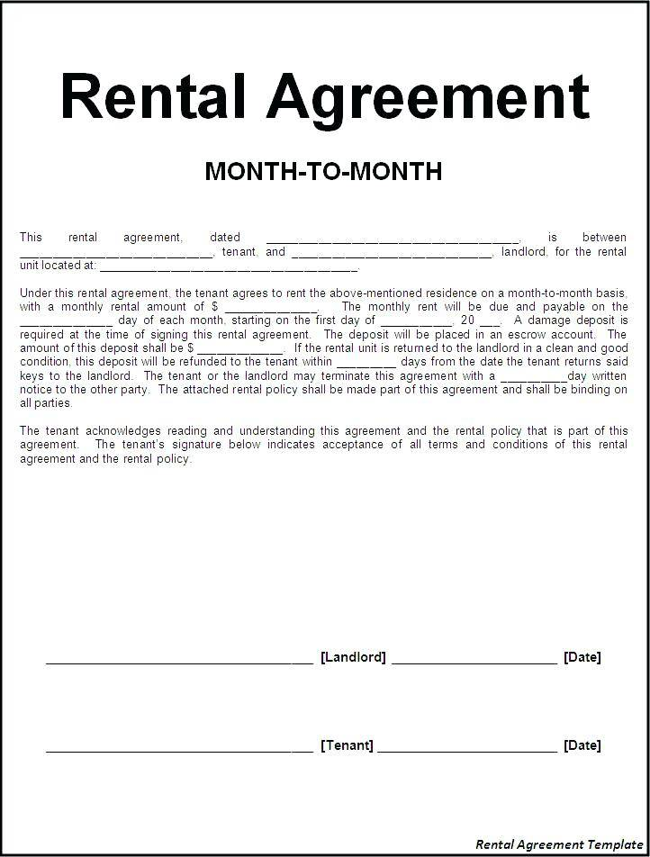 Rental Lease Template Nj