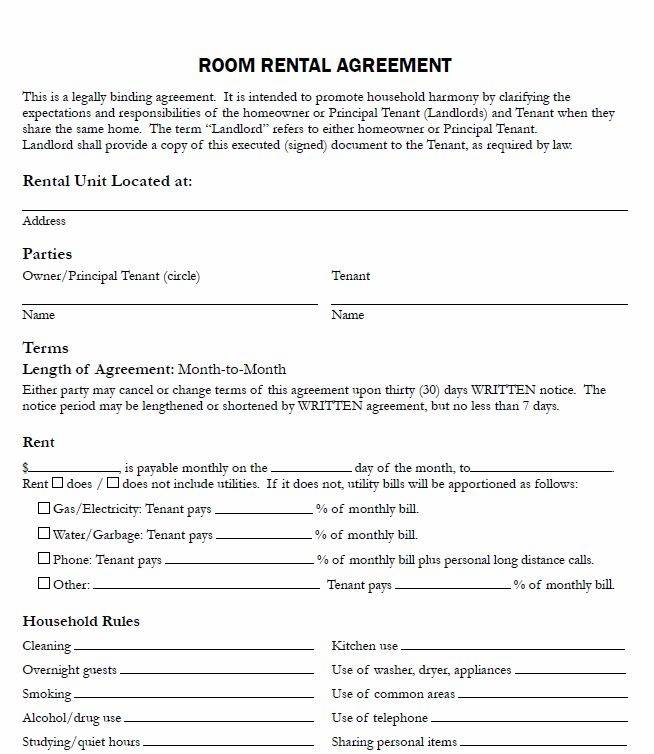 Rental Lease Template Texas