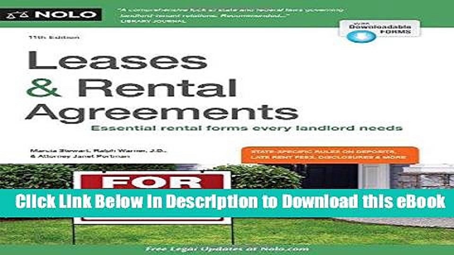 Rental Leases Agreements