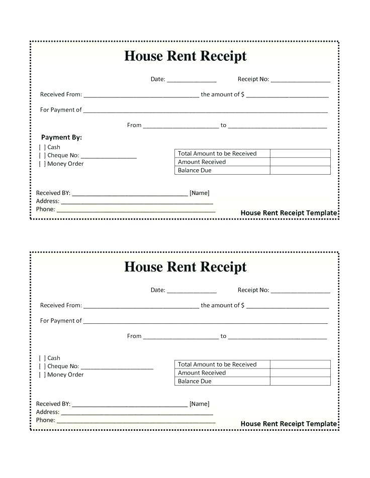 Rental Receipts Format India