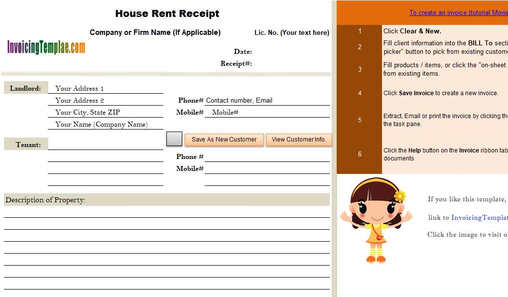 Rental Receipts Forms To Print