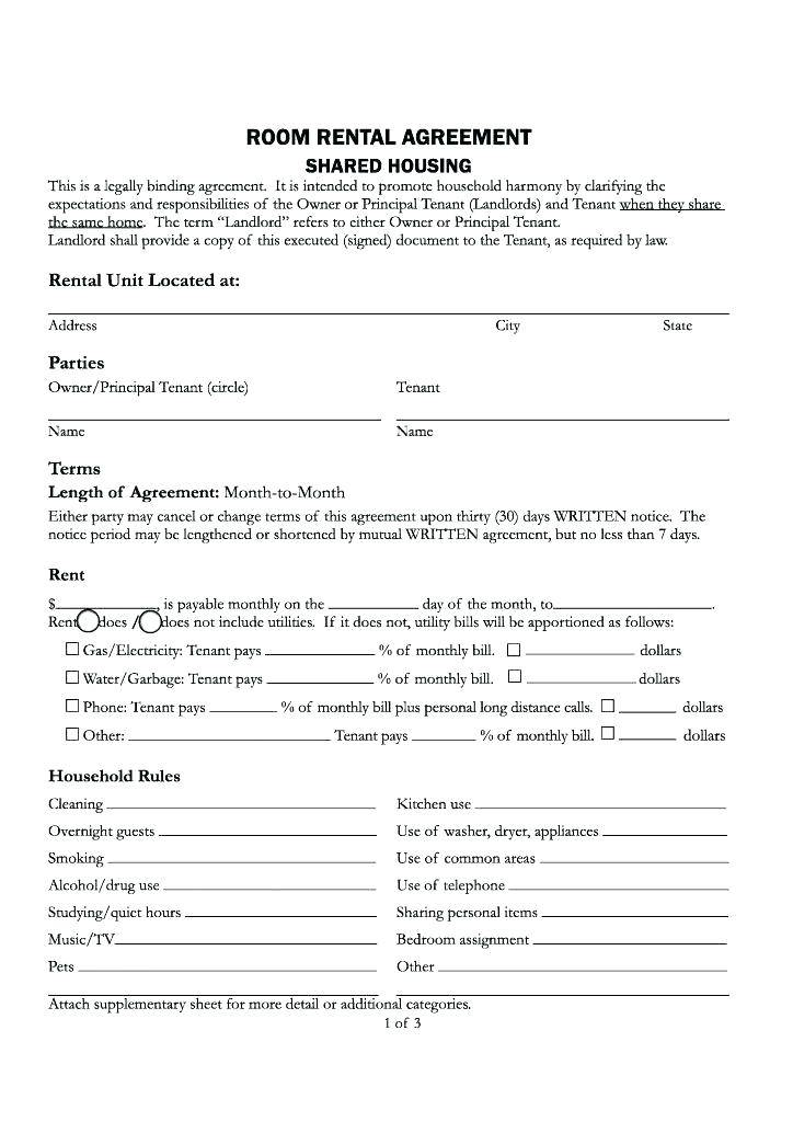 Renting Lease Template