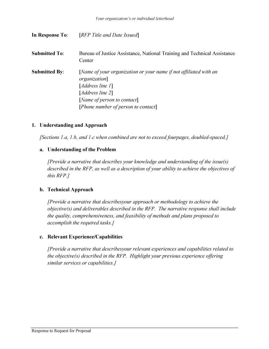 Request For Proposals Template