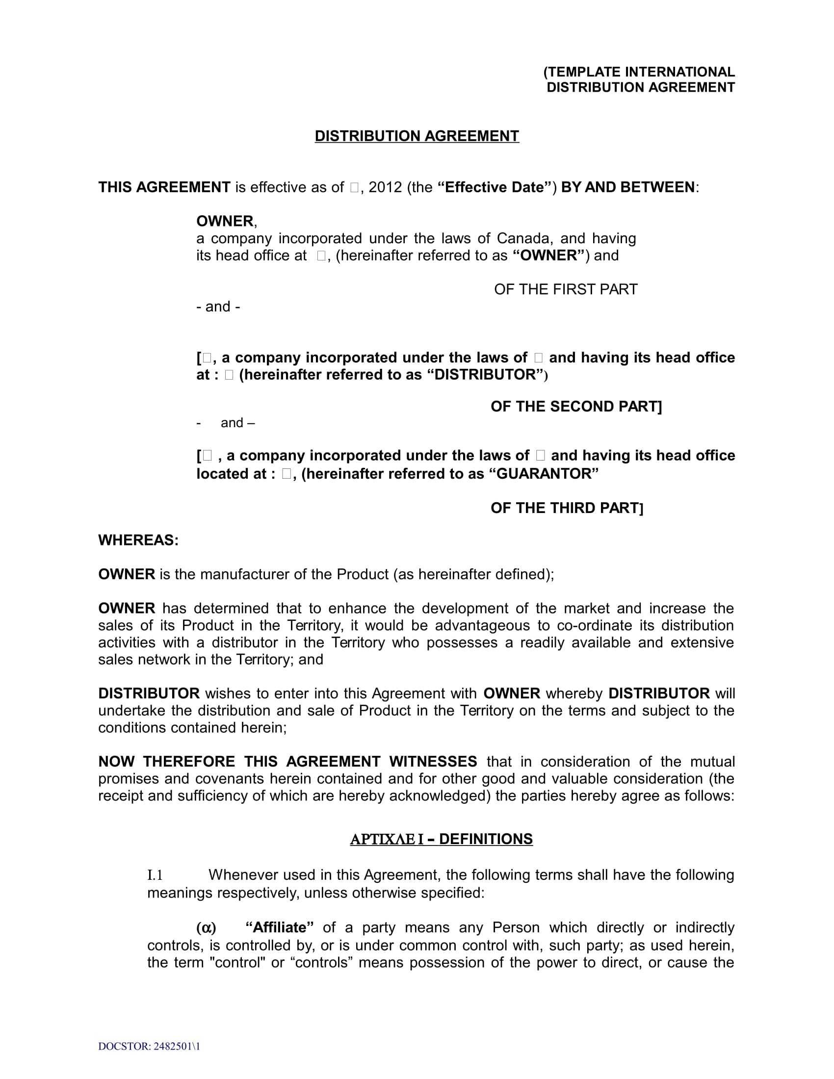 Reseller Agreement Forms