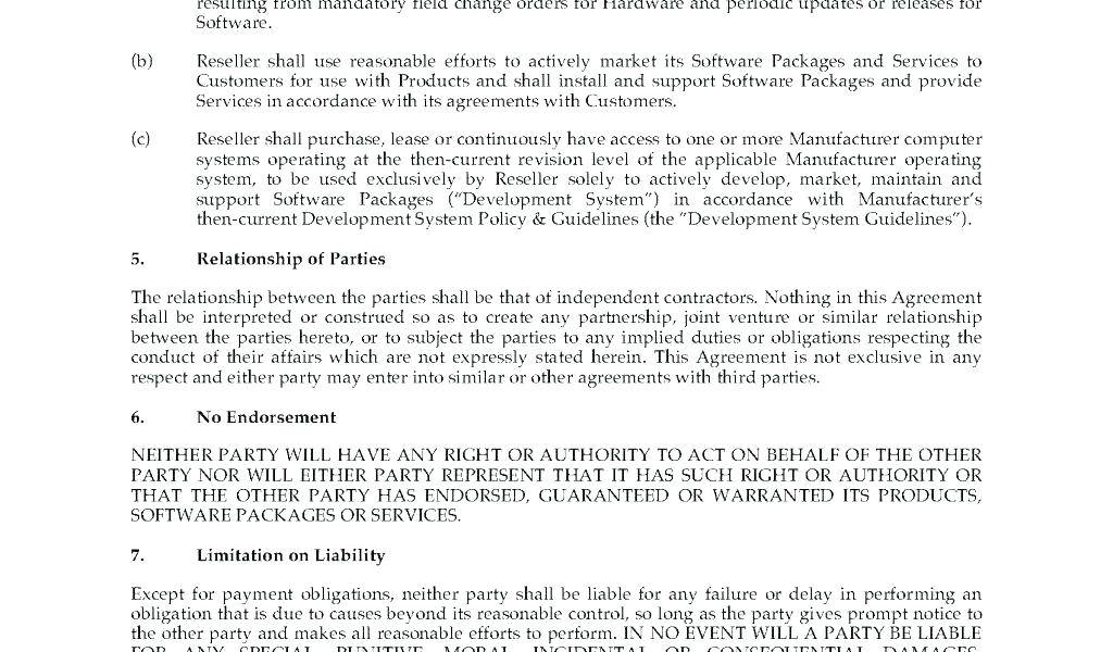 Reseller Agreement Template India