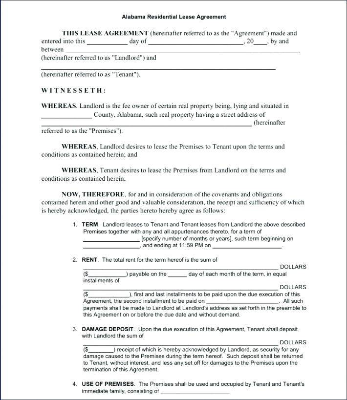 Residential Lease Template Ireland