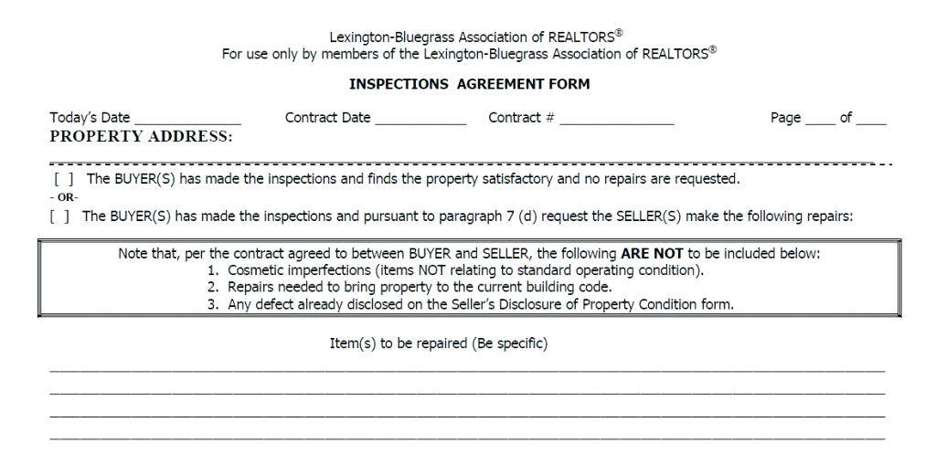 Residential Property Condition Report Template
