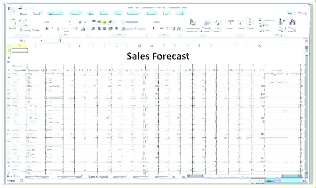 Resource Forecast Spreadsheet Template