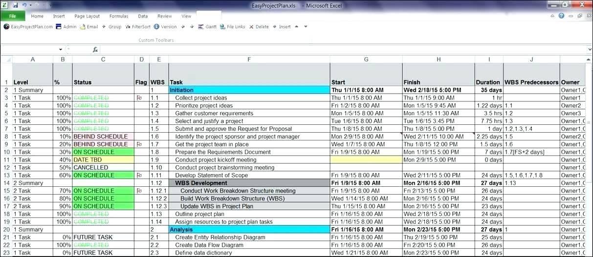 Resource Planning Calendar Template Excel