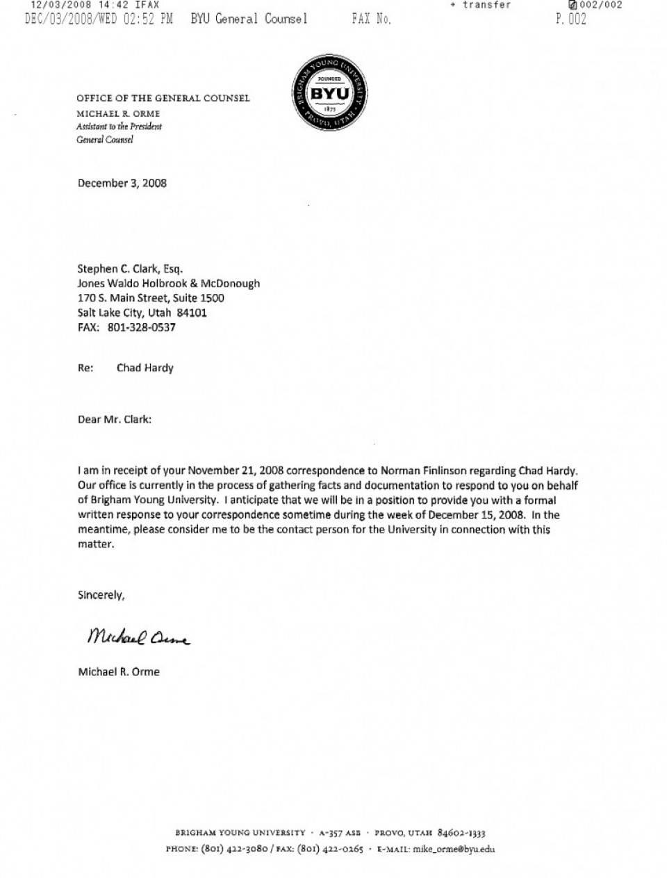 Response To Rfp Format