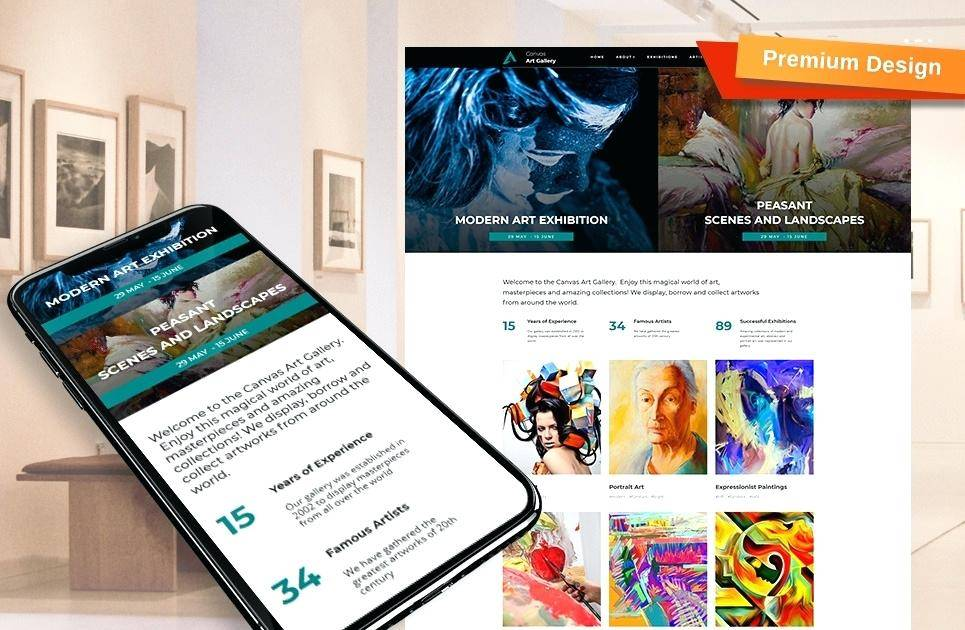 Responsive Art Gallery Website Templates Free Download