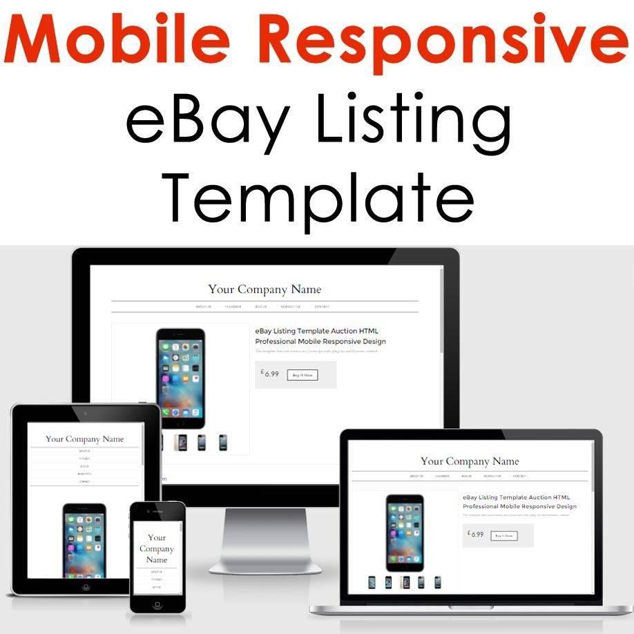 Responsive Ebay Html Template