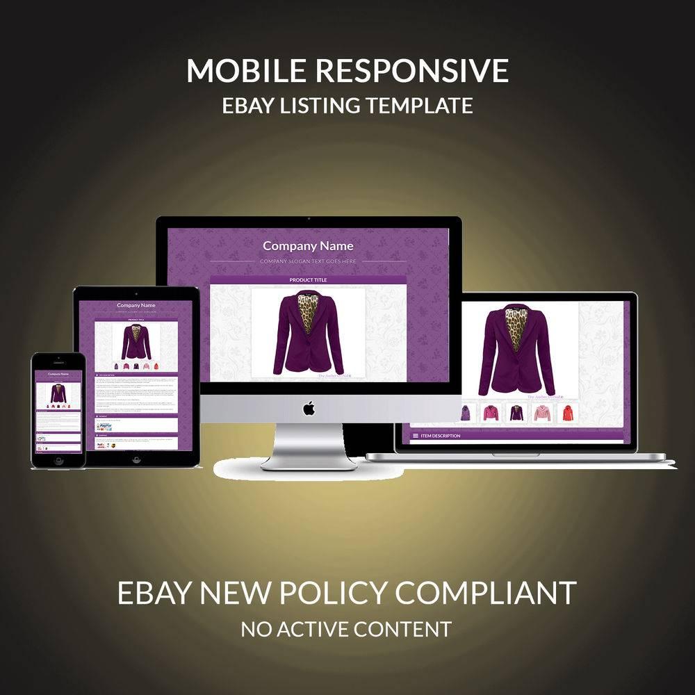 Responsive Ebay Listing Template Free