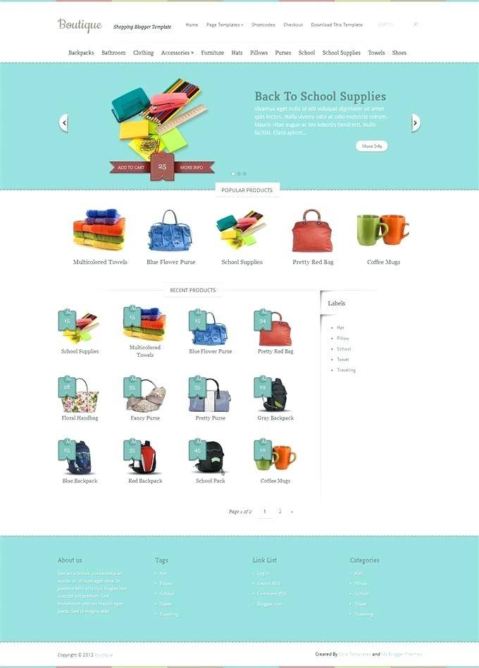 Responsive Ecommerce Template Bootstrap Free