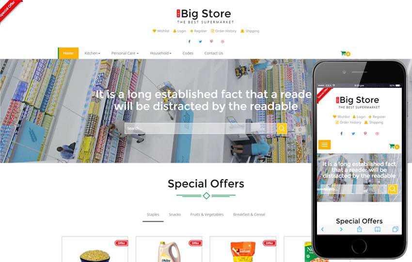 Responsive Ecommerce Template Download