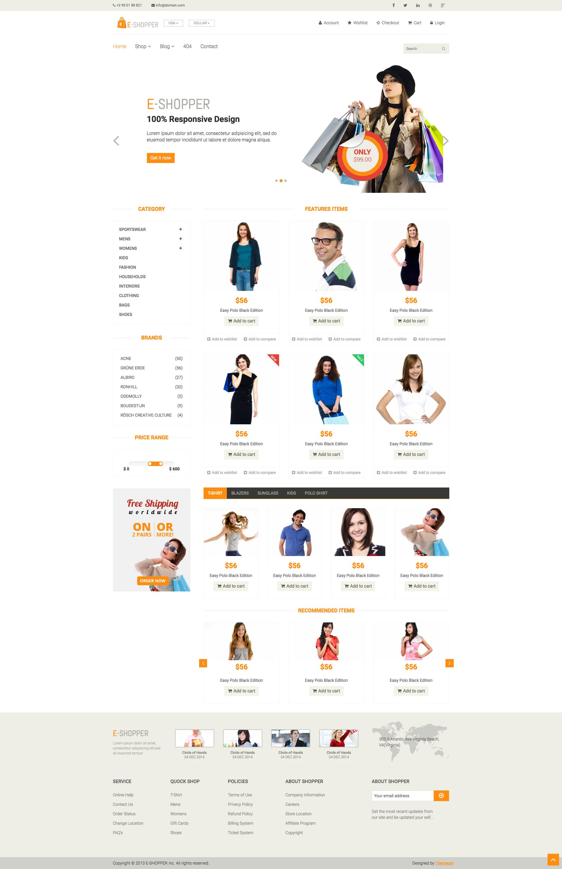Responsive Ecommerce Template Html