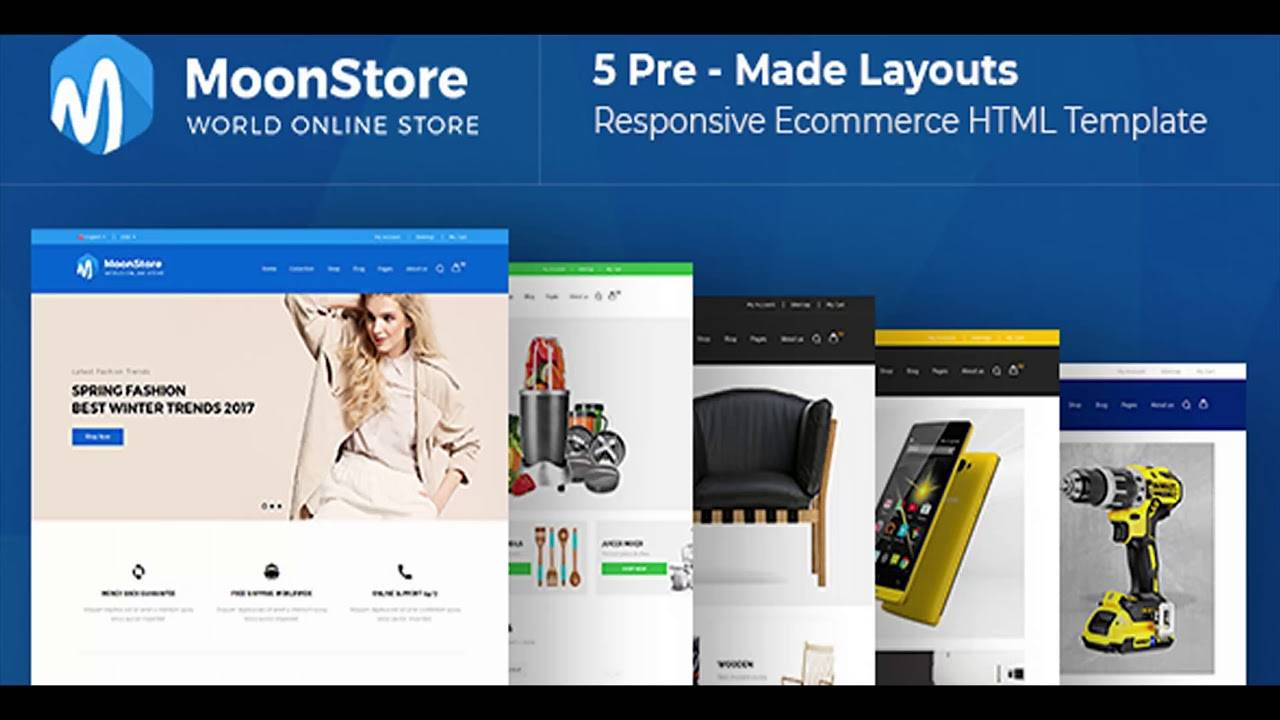 Responsive Ecommerce Website Templates Html