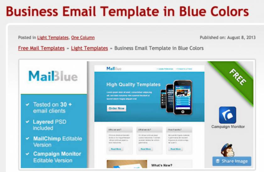 Responsive Mailchimp Templates Free