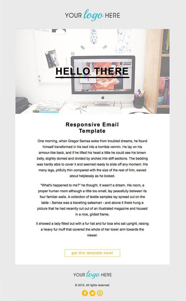 Responsive Newsletter Template Mailchimp