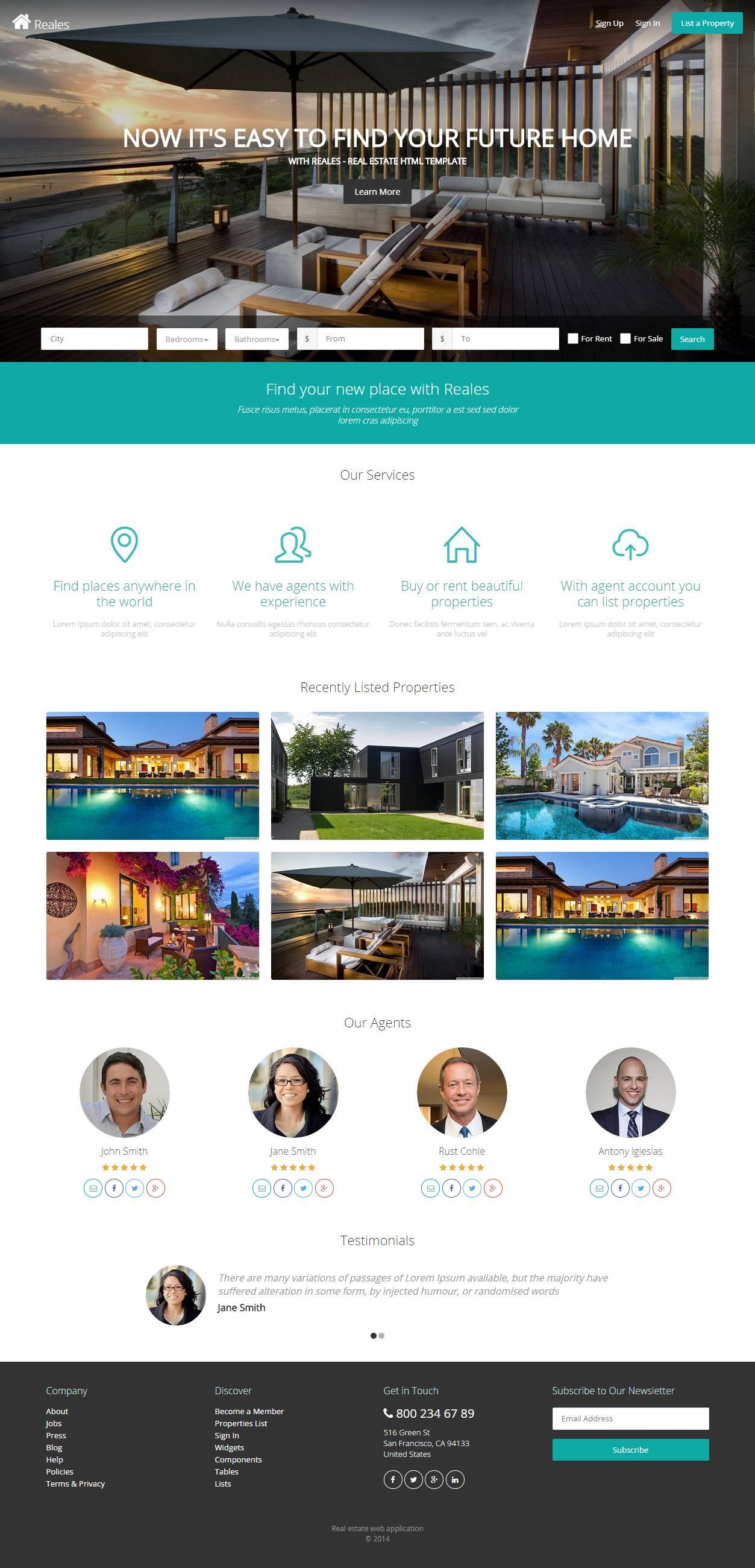 Responsive Real Estate Website Templates