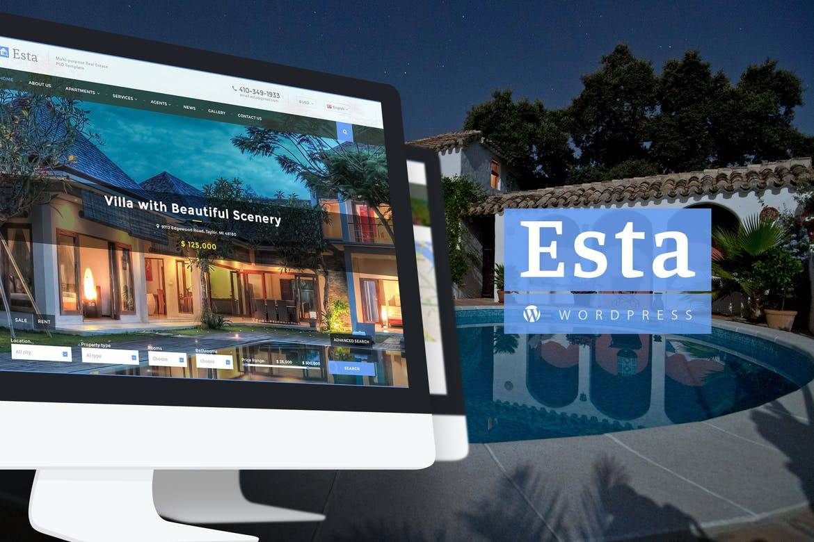Responsive Real Estate WordPress Theme Free Download