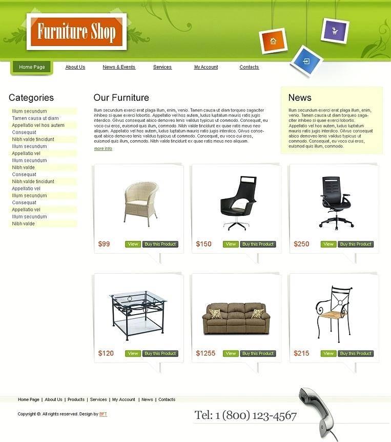 Responsive Shopping Cart Website Templates