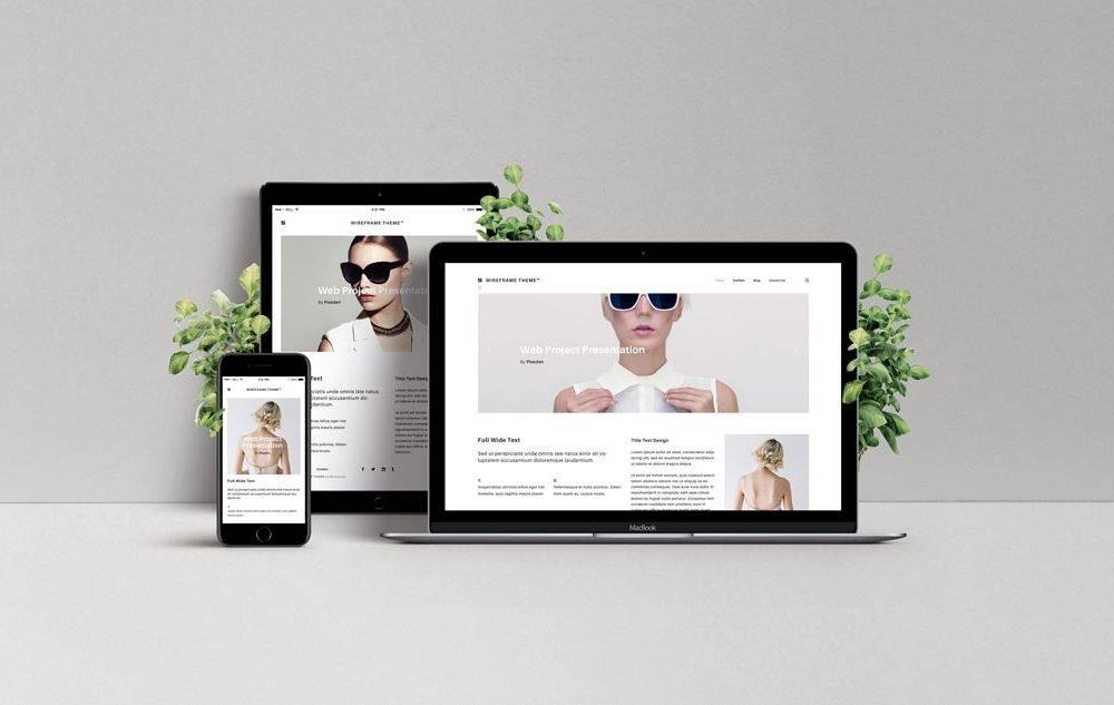 Responsive Web Design Mockup Template