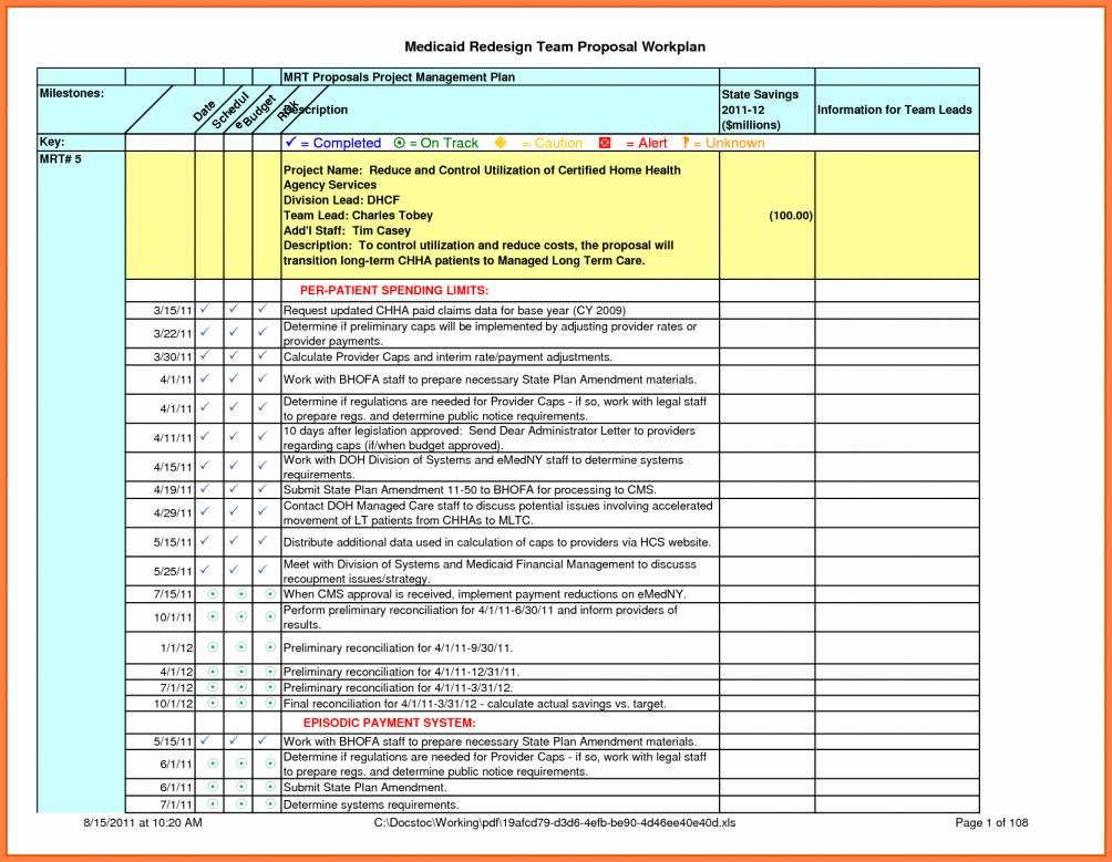 Restaurant Construction Schedule Template