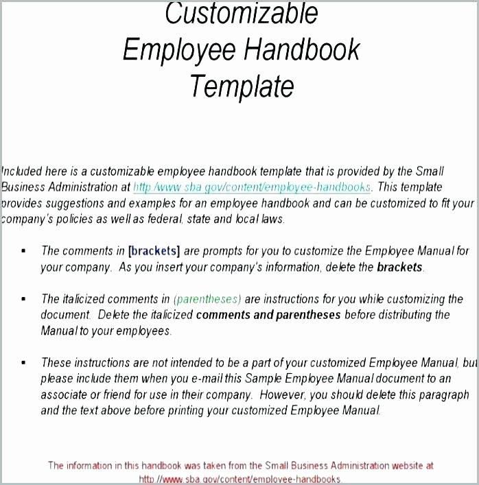 Restaurant Employee Handbook Example