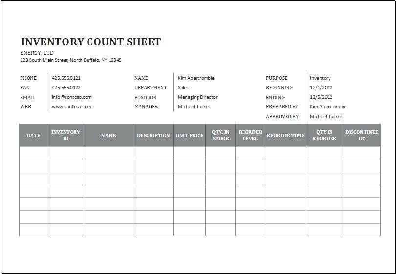 Restaurant Inventory Management Template