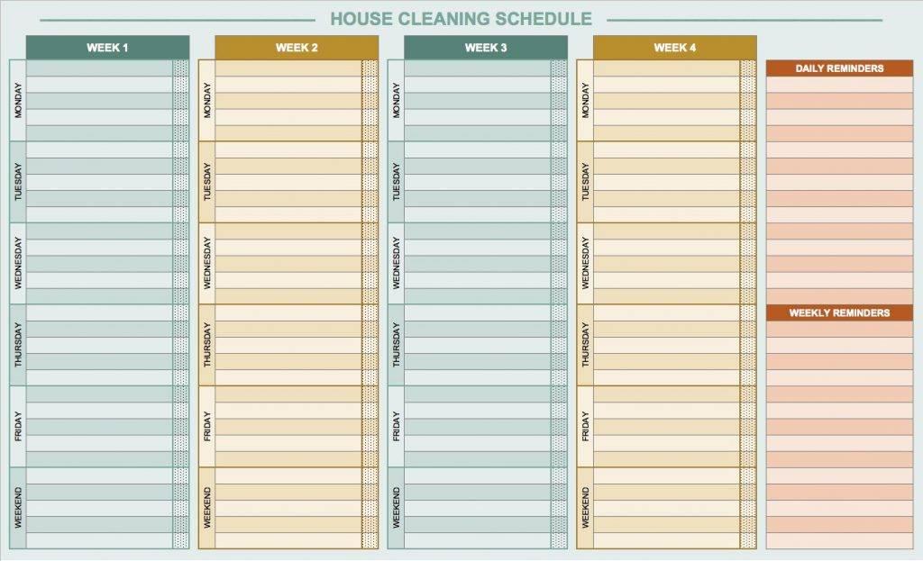 Restaurant Kitchen Cleaning Checklist Template Word