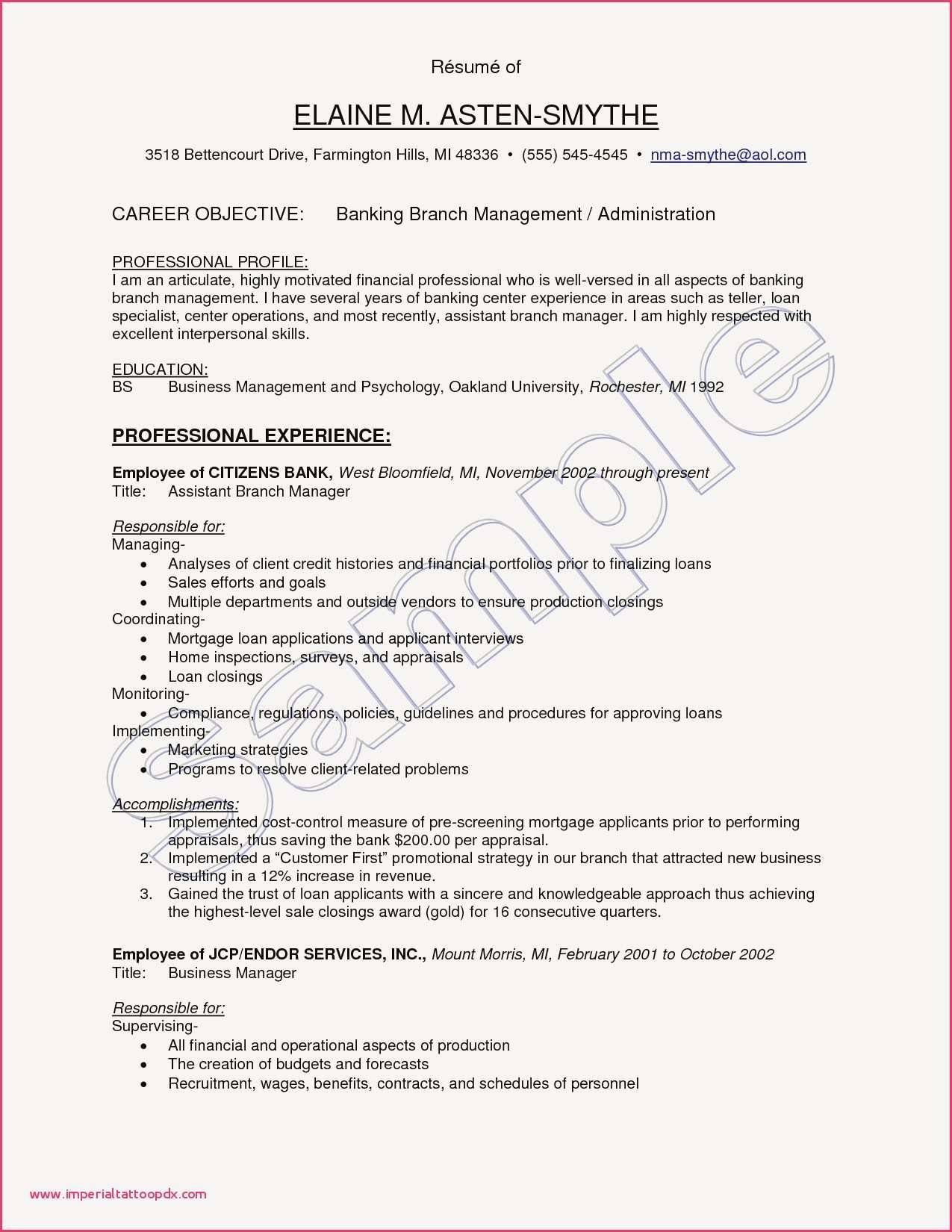 Restaurant Management Resume Templates