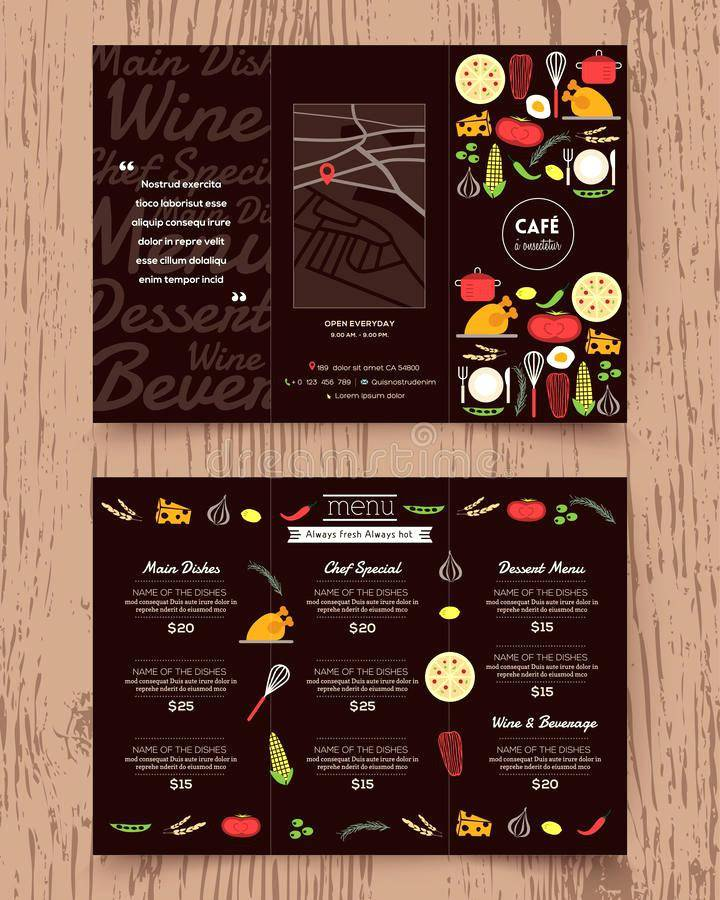 Restaurant Menu Template For Mac Pages