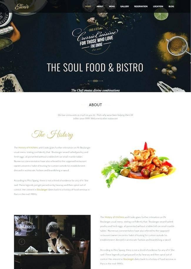Restaurant Review Template WordPress