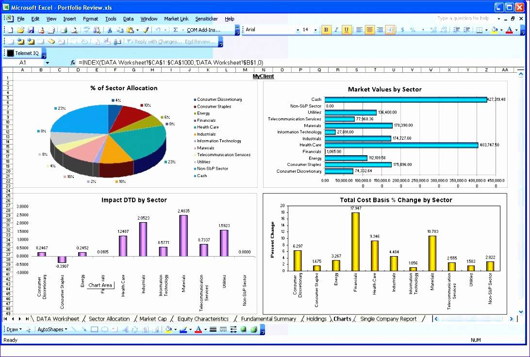 Restaurant Sales Report Excel Template