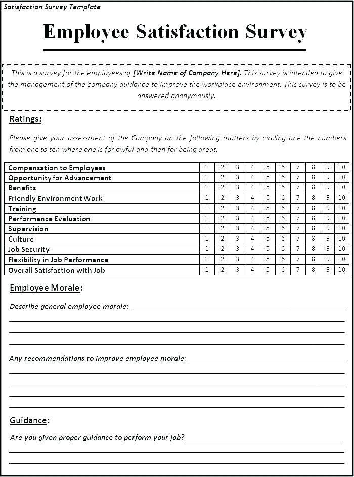 Restaurant Satisfaction Survey Template