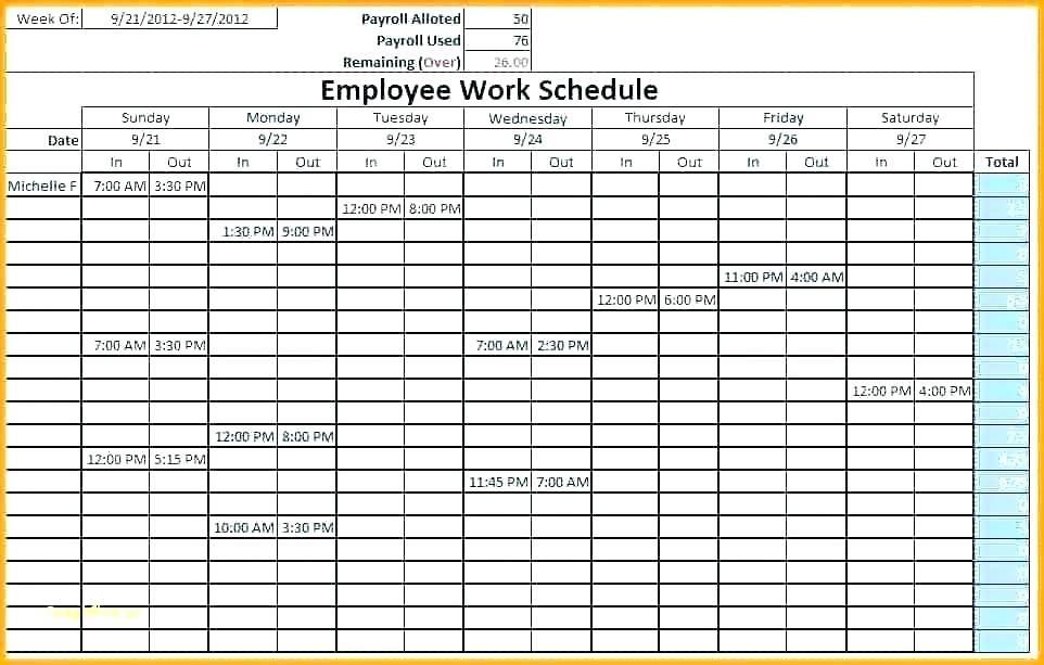 Restaurant Staff Scheduling Template